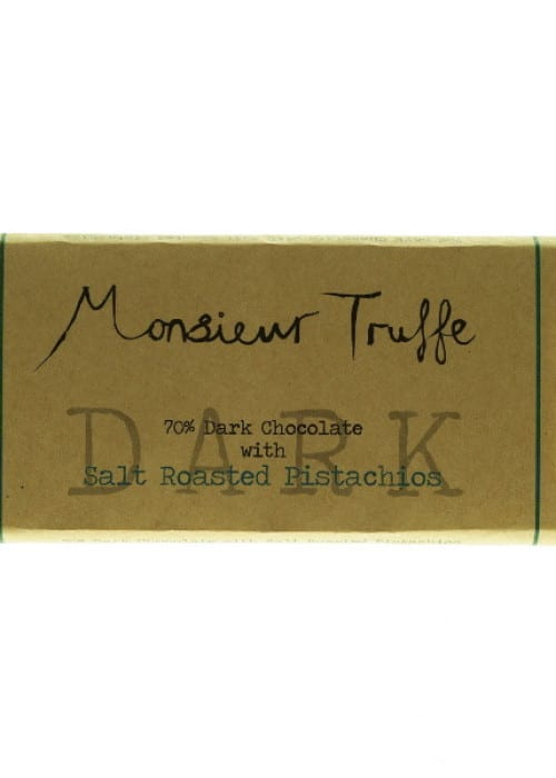 72% Organic Dark Chocolate with Salted Roasted Pistachios