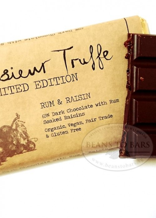 65% Dark Chocolate with Rum Soaked Raisins Limited Edition