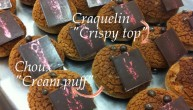Dark Choux with Craquelin