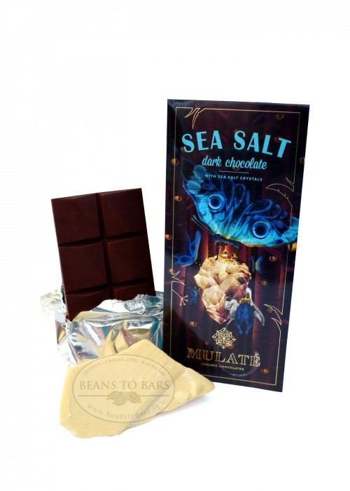 80g Organic Dark Chocolate 70% with Sea Salt Crystals